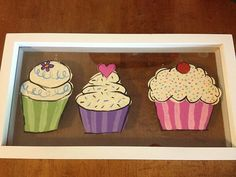 Cupcake Art by PopOfPinK on Etsy, $25.99