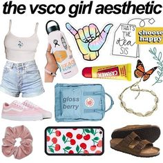 VSCO women like Emma Chamberlain are taking control of the internet. She enjoys Brandy Melville, Birkenstocks, and scrunchies-- and has money. Aesthetic Fashion, Aesthetic Clothes, Teenager Outfits, Girl Outfits, School Outfits, Summer Outfits, What Is A Teenager, Aesthetic Memes, Aesthetic Pictures