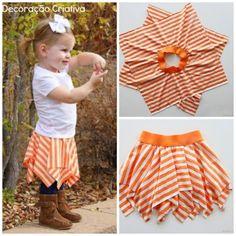 Moda y Patrones – chispis.com Frocks For Girls, Little Girl Dresses, Girls Dresses, Summer Dresses, Frock Patterns, American Girl Diy, Cute Skirts, Diy For Girls, Baby Sewing