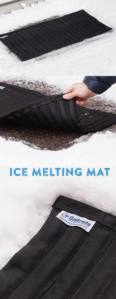 These mats work just like rock salt, because that's what is inside. But these de-icing mats are faster, neater, and more efficient.