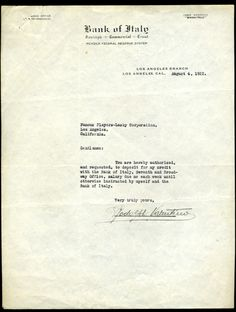 Rudolph letter to Famous Players Lasky