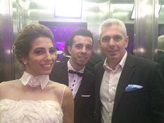 Con Cinthia Fernandez y Matias Defederico