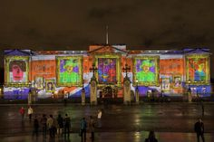 SO COOL! Buckingham Palace Video Projections Attempt to Break Record for Largest Collaborative Artwork