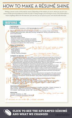How to make a résumé shine.