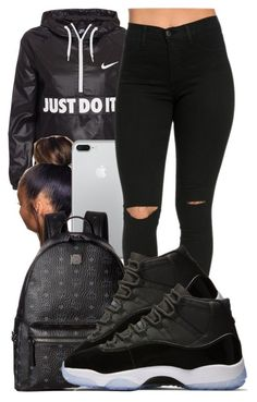 """This basic"" by guwapshawty ❤ liked on Polyvore featuring NIKE and MCM"