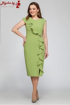 Frilly Dresses, Nice Dresses, Casual Dresses, Summer Dresses, Work Party Dress, Office Attire Women, Dress Outfits, Fashion Dresses, Frock For Women