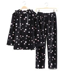 2015 Winter New Super Soft Coral Fleece Women Pyjamas Fashion Hooded Pink Snowflake Pajama Sets Winter Pyjamas Pijamas Feminino-in Pajama Sets from Women's Clothing & Accessories on Aliexpress.com | Alibaba Group