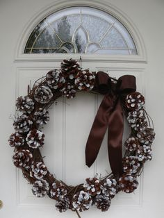 Pine Cone Wreath Grapevine Wreath by LuckyLadybugNJ on Etsy, $65.00