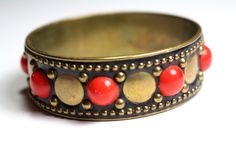 Red Dot Bracelet by MaryJaneMyLove on Etsy