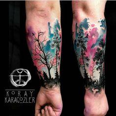 """Artist @koray_karagozler Turkey #wctattoos #watercolourtattoos #watercolourtattoo #watercolortattoo #aqarelletattoo #aquarelatattoo #watercolor…"""