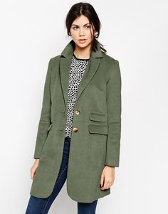 ASOS COLLECTION ASOS Coat With Seam Detail
