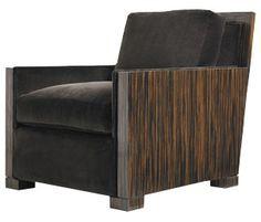 Stunning wood arm club chair from A. Rudin  www.patricklandrumdesign.com www.patricksdesignblog.blogspot.com