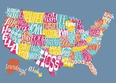 United Slang of America map: If every state had an official word, what would it be?