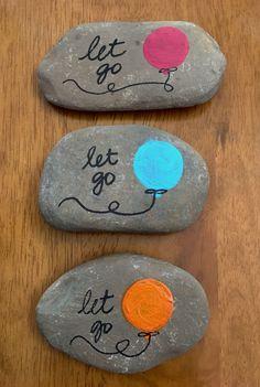 Painted Rock Balloon Let Go Northeast Ohio Rocks! #northeastohiorocks #rockpainting #easypaintrock #paintingrockideas #stoneart #paintstone