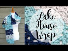 This lake house crochet wrap pattern made from Fiber Flux is super soft, lightweight and lacy, and warm too for when you need it