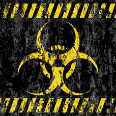 Grunge Bio-hazard Sign by julydfg Grunge biohazard sign background. Fully editable vector files and hi-res JPEGs. Hazard Wallpapers, Hazard Symbol, Neon Words, Desenho Tattoo, Halloween Signs, Post Apocalyptic, Zombie Apocalypse, Gi Joe, Wall Art Designs