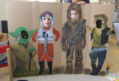 Star Wars decorations.  Levi's 3rd birthday.