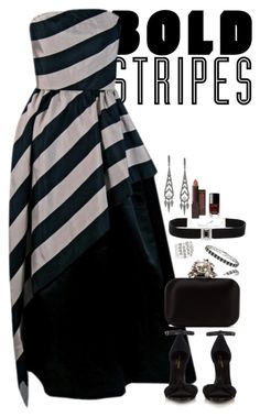 """Untitled #3754"" by fashion-nova ❤ liked on Polyvore featuring Yves Saint Laurent, Jimmy Choo, Adriana Orsini, Finesque, Ippolita, Kenneth Jay Lane, Burt's Bees, Chanel and BoldStripes"