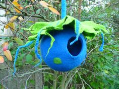 handmade felted bird pod, unique and one of a kind by     ♥FELTED ART TO WEAR♥ These felted bird pods bring a bit colour and happiness into your