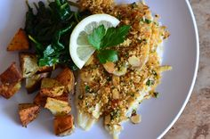 Crunchy Topped Filet of Sole ~ strandedfoodie.com