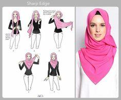 Sharp edge hijab wrap