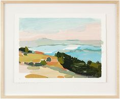 """Karen Smidth Land VI Limited Edition of 100, archival hand-deckled print, signed and numbered by the artist. 26.5"""" x 21.5"""" Berkeley, California"""