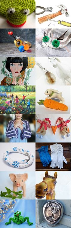 Hide and Seek or kiss the Frog, Lucky Princess : ) by Christiane on Etsy--Pinned with TreasuryPin.com