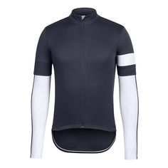 favorite jersey (men's small), tall collar makes it instantly feel classic and sexy, mine has an even hem, wouldn't change a thing, may be a little thick for summer