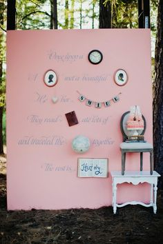 love doing something like this for a photo backdrop, or as a welcome station with a guest book.