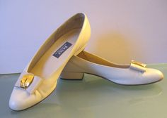 Vintage Bally Made in Switzerland Ballet Flat Pumps Size 8N US by TheOldBagOnline on Etsy