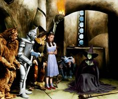 The Wizard of Oz (1939) - Bert Lahr, Jack Haley, Judy Garland, Ray Bolger and Margaret Hamilton