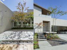 透垣の家 Premium Design Selection 戸建住宅 積水ハウス Garage Doors, Sidewalk, Exterior, Outdoor Decor, Green, Home Decor, Flats, Decoration Home, Room Decor