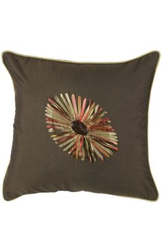 Rizzy Rugs Sunflower Decorative Pillow Brown
