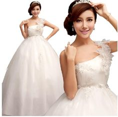 aadcbad4bfe Korean Shoulder straps lace wedding dress Princess Bride 2014 winter new  customized for pregnant women