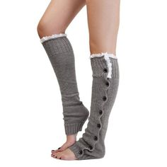 Voberry®Women Crochet Knitted stocking Leg Warmers Boot Legwarmers Lace Trim Legging Socks (Gray): http://www.amazon.com/gp/product/B00R285QWK/ref=as_li_tl?ie=UTF8&camp=1789&creative=390957&creativeASIN=B00R285QWK&linkCode=as2&tag=amoma0f-20&linkId=W5O2O6ES2QQBOA63