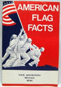 AMERICAN-FLAG-FACTS-INFORMATIONAL-BROCHURE-GUIDE-1960s-VINTAGE-MILITARY