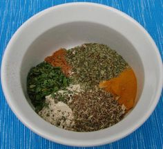 Dash seasoning recipe -- simple proportions make it easy to make in larger or smaller batches! Homemade Spice Blends, Homemade Spices, Homemade Seasonings, Spice Mixes, Homemade Food, Mrs Dash Seasoning, Salt Free Seasoning, Seasoning Mixes, Seasoning Recipe
