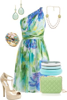 """""""Floral Brushstrokes"""" by maggiesuedesigns on Polyvore"""
