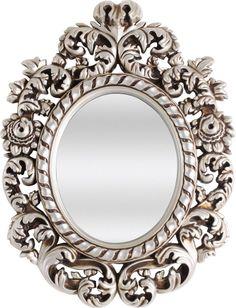 OnLine Atelier - Loja Virtual - arte - decoração - design - Espelho de 4mm ref 001024, moldura prata envelhecido com 74 cm de largura e 99 de altura.  Pronta Entrega. Informações: onlineatelier@hot... (54) 9165-9726