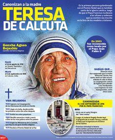La Madre Teresa de Calcuta fue canonizada el 4 de septiembre. Te dejamos algunos datos de su vida #Infographic