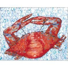red, white and blue crab picture - Google Search