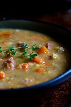 split pea soup (ds la mijoteuse pour soir de semaine)