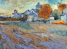 Oil painting: View of the Church of Saint Paul de Mausole, Vincent van Gogh