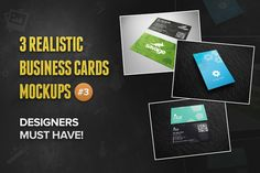 Check out 3 Realistic Business Card Mockups #3 by Rafael Oliveira on Creative Market -> http://crtv.mk/qy9Q