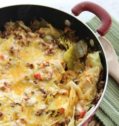 One-Pot Cabbage Casserole Easy Cabbage Recipes, Spicy Recipes, Beef Recipes, Cooking Recipes, Healthy Recipes, Easy Recipes, Hamburger Recipes, Cooking Tips, Appetizers
