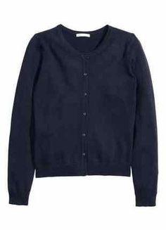 Kup mój przedmiot na #vintedpl http://www.vinted.pl/damska-odziez/kardigany/16782888-granatowy-rozpinany-kardigan-sweter-xs-s-hm