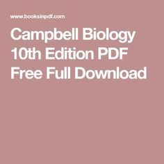campbell biology canadian edition pdf download