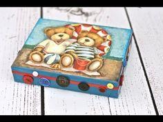 Video Tutorial - Decoupage krok po kroku - pudełko z guziczkami dla chłopca - chłopca, decoupage, guziczkami, krok, kroku, pudełko, tutorial, video
