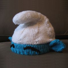 Smurf hat  #knitting