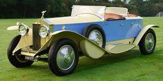 1929 Rolls Royce Phantom II Barker Boat Tail Vintage Bikes, Vintage Cars, Antique Cars, Classic Rolls Royce, Bentley Rolls Royce, Phantom 2, Rolls Royce Phantom, Automotive Art, Go Kart